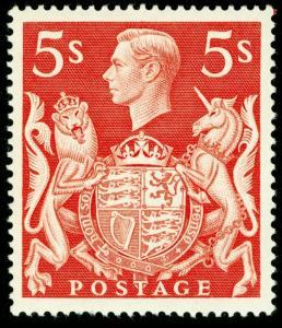 SG477, 5s red, M MINT. Cat £20.