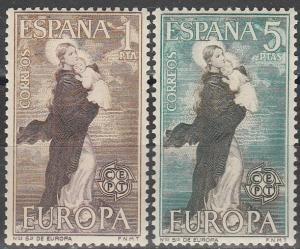 Spain #1180-81  MNH  (S1184)
