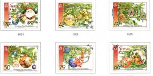 Jersey Sc 1553-8 2011 Christmas Decorations stamp set used