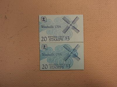 USPS Scott 1738-42 15c 1979 Windmills USA 2 Books OF 20 4...