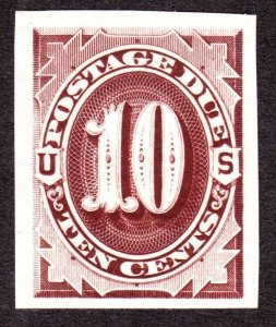 US J5P3 10c Postage Due Plate Proof on India Paper VF-XF SCV $32 (002)