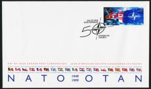 Canada 1809 on FDC - NATO, Flags
