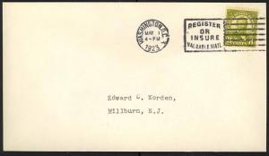 560, 8c SCARCE FIRST DAY COVER - XF ED WORDEN