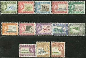 VIRGIN IS. Sc#144-156 SG178-190 1964 QEII Part Set OG to $1 Mint Hinged