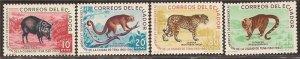 Ecuador - 1961 Animals - 4 Stamp Set - Scott #676-9