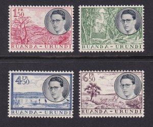 Ruanda-Urundi  #133-136  MNH  1955  King Baudouin