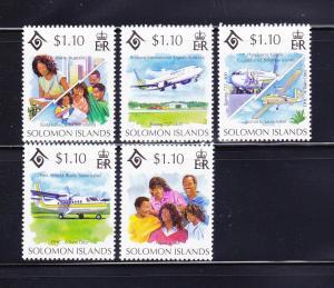 Solomon Islands 778a-778e Set MNH Year of the Family (A)