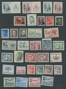 Czechoslovakia  1949 Mi 562-604 MNH Complete Year Cv 83 Euro