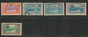 Fr. Polynesia Sc#65-69 M+U/H/VF, Complete Set, Cv. $39.90