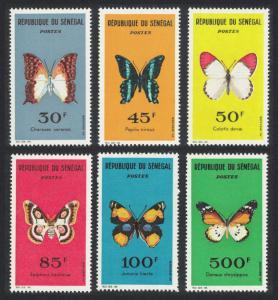 Senegal Butterflies 6v SG#262-267 SC#221-226