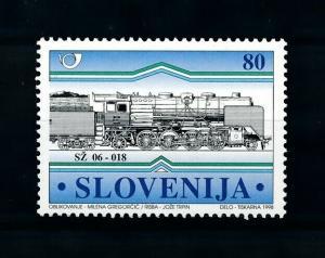 [100652] Slovenia 1998 Railway Train Eisenbahn  MNH