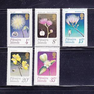 Pitcairn Islands 130-134 Set MNH Flowers