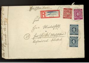 1946 Radeberg Germany Registered Cover with letter cont
