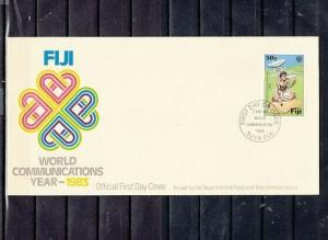 Fiji, Scott cat. 499. Communications issue. Drummer shown. First day cover.