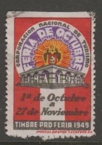 Peru Charity fiscal revenue stamp 4-8-21- used - Lima Peru 1949