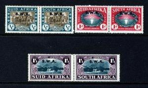 SOUTH WEST AFRICA 1939 Huguenot Landing Set Optd S.W.A. SG 111 to SG 113 MINT