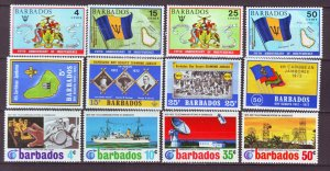 J22213 Jlstamps 3  1970,s barbados sets mnh #364-7,368-71,372-5