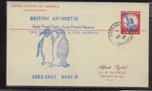 British Antarctic Territory 1962-1962 Base Camp D Hope Bay Cancel (*sch*)