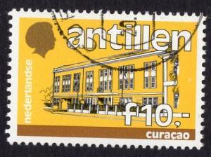 Netherlands Antilles  #554  1985 cancelled govt building  10g