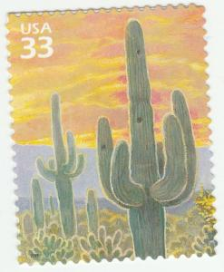 US 3293e Sonoran Desert Saguaro Cactus 33c single (1 stamp) MNH 1999