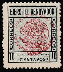 MEXICO-Sinaloa 1, REVOLUTIONARY ISSUE. MINT, NEVER HINGED. F-VF