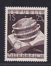 Austria   #B286   MNH  1953   stamp day