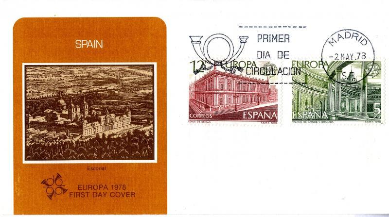 SPAIN EUROPA FDC  1978 #2101-2 BIN $4.00