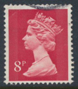 Great Britain  8p Machin SG X878  SC# MH64   Used see detail and scan