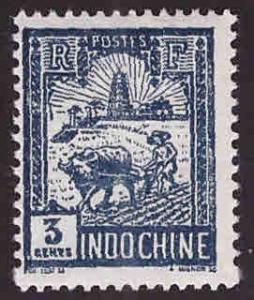 French Indo-China Scott 121 MH* 1927 stamp