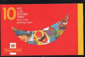 Great Britain  Sc  1304a 1990 20p Smiles stamp booklet mint NH