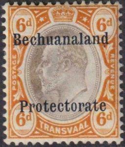 Bechuanaland Protectorate 1910 SC AR1 MLH
