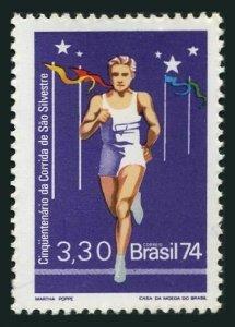 Brazil 1374,MNH.Michel 1466. Sao Silvestre long distance running,50th Ann.1974.