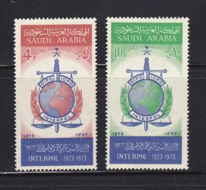 Saudi Arabia 653-654 Set MNH INTERPOL Emblem (A)