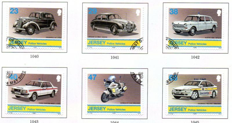 Jersey  Sc 1029-4 2002 Police Cars stamp set used