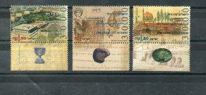 Israel Scott #1245-47 Jerusalem 3000 Tab Set MNH!!