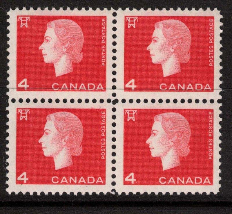 Canada - 1962 QEII - SC401, 404, 405 Mint Blocks NH