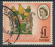 Rhodesia   SG 387 SC# 236  Used  Coat of Arms   see details