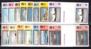 Falkland Islands Dependencies Scott 1L38-1L52 Mint NH gutter pairs (CV $28.80)