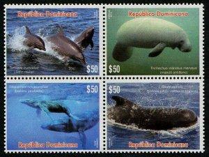 HERRICKSTAMP NEW ISSUES DOMINICAN REPUBLIC Sc.# 1594 Sea Mammals