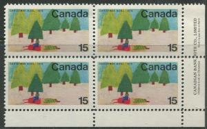 STAMP STATION PERTH Canada #530 Christmas 1970 MNH Block of 4 CV$4.00