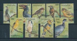 [102989] Central African Republic 2000 Birds vögel oiseaux  MNH