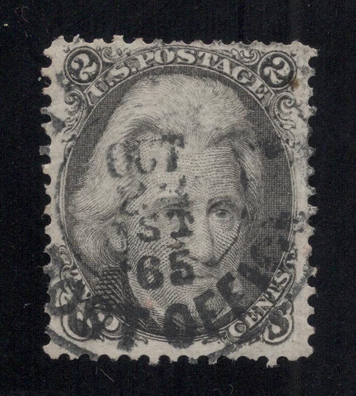 US#73 - Unusual Dated POST OFFICE Cancel