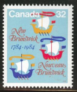Canada Scott 1014 MH* 1984 New Brunswick stamp