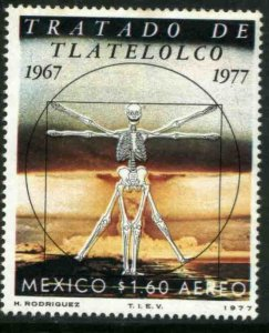 MEXICO C533, 10th ANNIV OF THE TREATY OF TLALTELOLCO, UNWNKD. MINT, NH. VF.