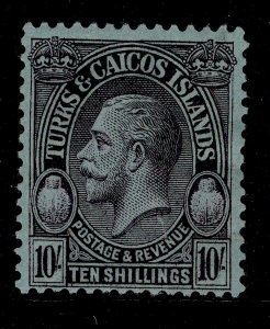 TURKS AND CAICOS ISLANDS GV SG186, 10s purple/blue, M MINT. Cat £60.
