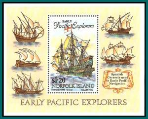 Norfolk Island 1994 Pacific Explorers, MS MNH  #562,SGMS574