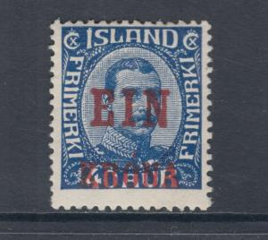 Iceland Sc 150 MLH. 1926 1k on 40a Ein Krona surcharge, F-VF