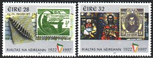 Ireland. 1997. 1022-23 from the series. Stamps on stamps. MNH.