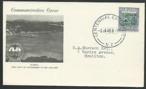 NEW ZEALAND 1940 Centenary 2½d FDC Centennial Exhibition cds...............64741