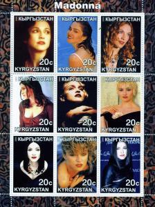 Kyrgyzstan 2000 MADONNA American Singer Sheet Perforated mnh.vf